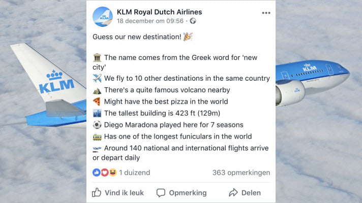 marketingcampagne klm